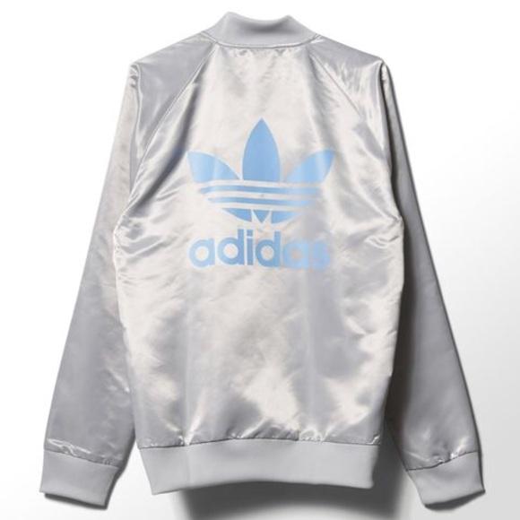 44c1350b2 adidas Jackets & Coats | Brand New Rare Nyc Silver Bomber Jacket ...